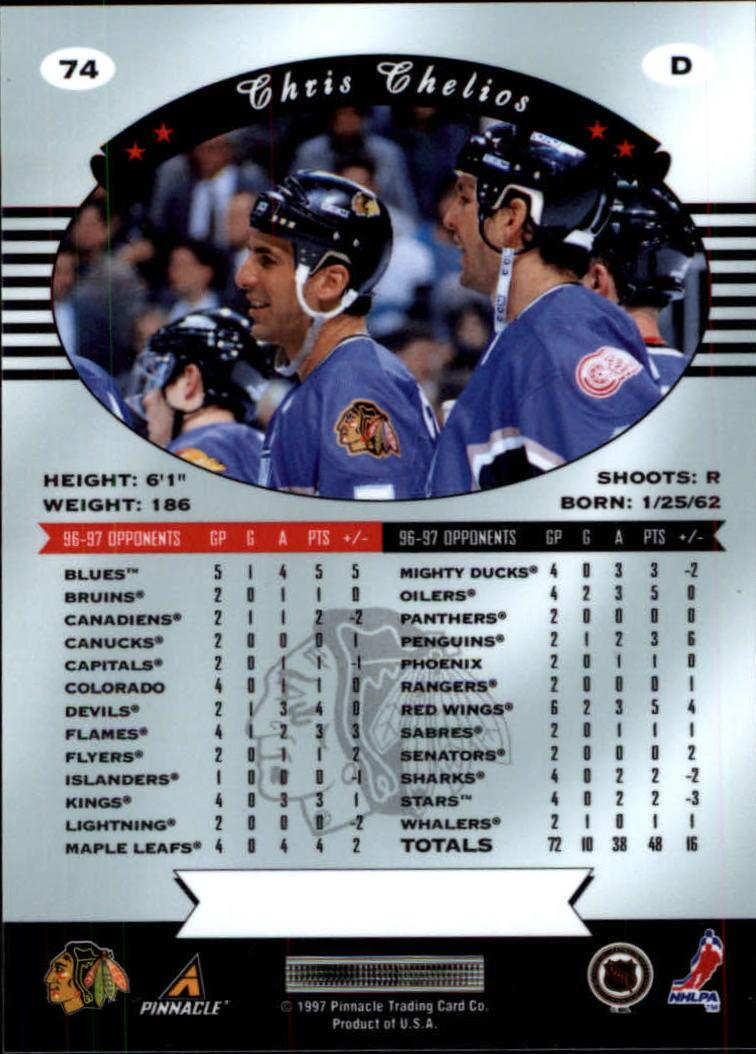 1997-98 Pinnacle Certified #74 Chris Chelios back image