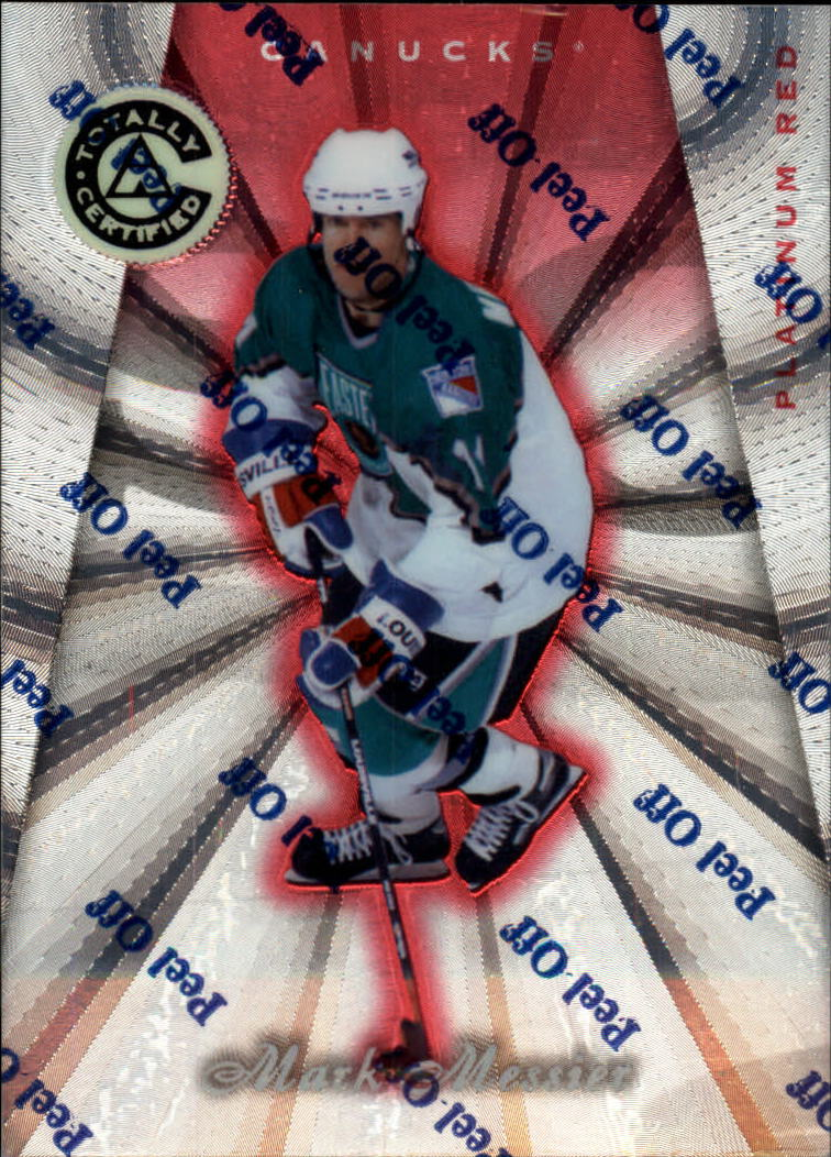 1997-98 Pinnacle Totally Certified Platinum Red #43 Mark Messier