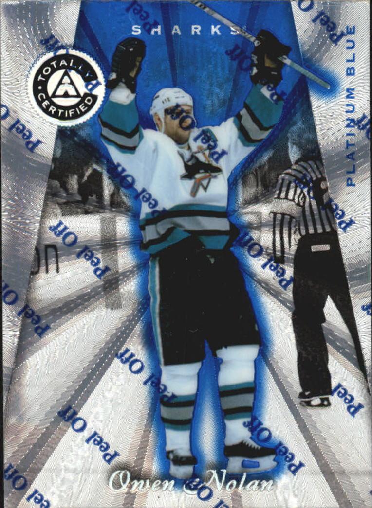 1997-98 Pinnacle Totally Certified Platinum Blue #59 Owen Nolan