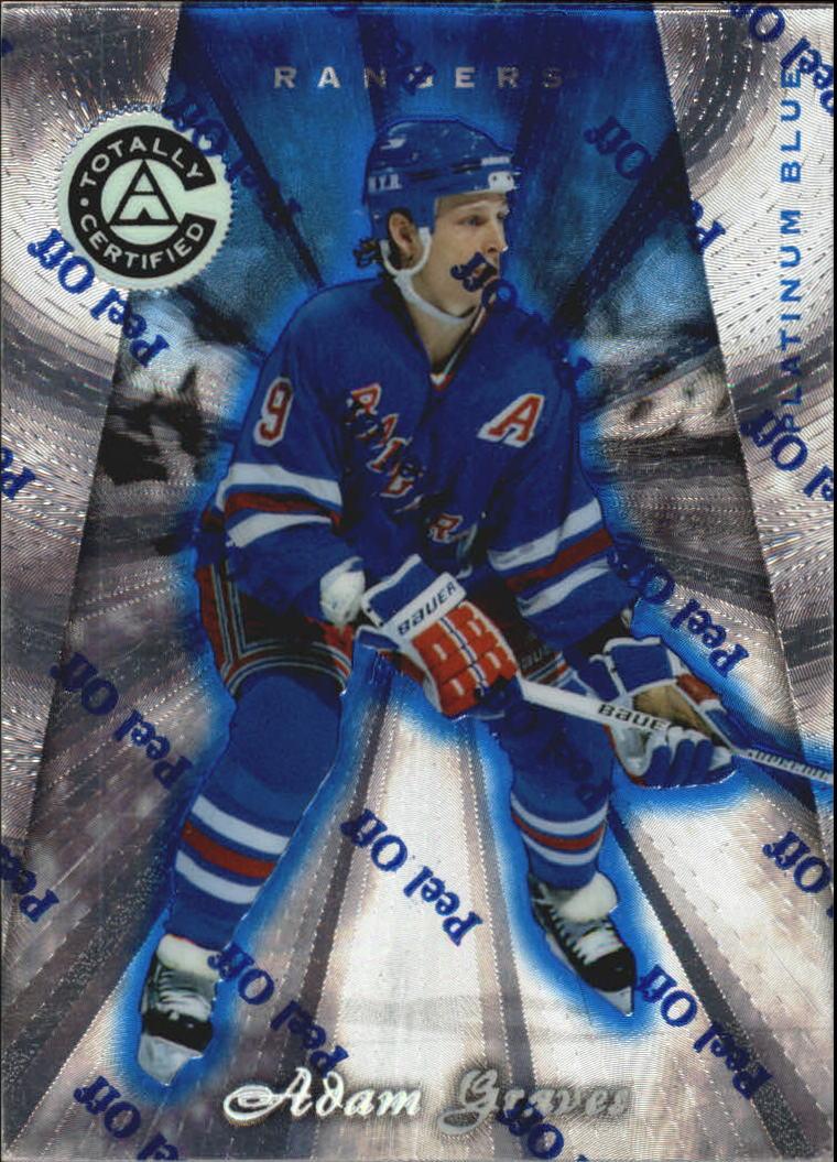 1997-98 Pinnacle Totally Certified Platinum Blue #96 Adam Graves
