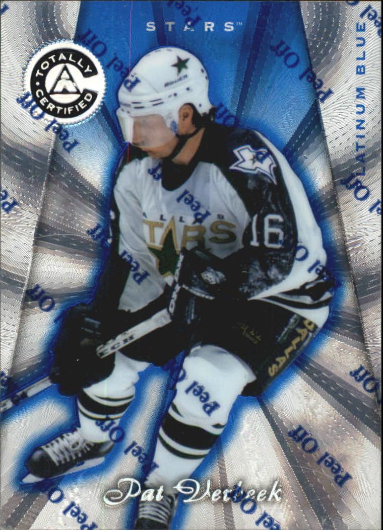 1997-98 Pinnacle Totally Certified Platinum Blue #111 Pat Verbeek