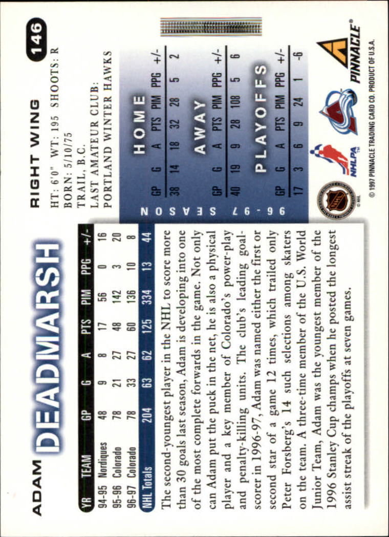 1997-98-Score-Hockey-1-249-Your-Choice-GOTBASEBALLCARDS thumbnail 249
