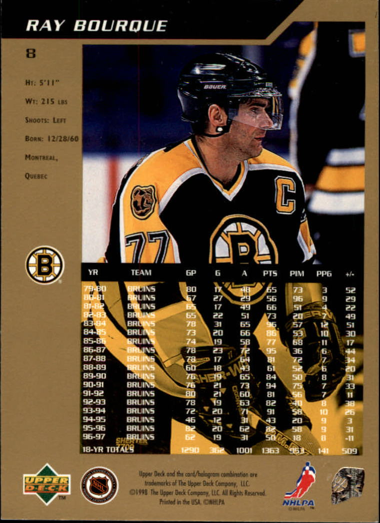 1997-98 SP Authentic #8 Ray Bourque back image