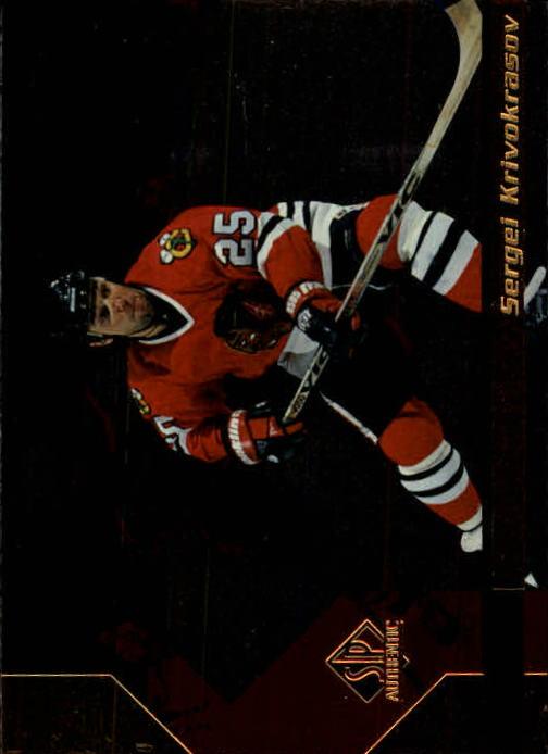 1997-98 SP Authentic #34 Sergei Krivokrasov