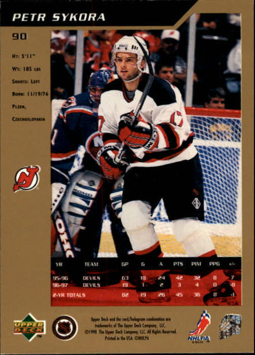 1997-98 SP Authentic #90 Petr Sykora back image
