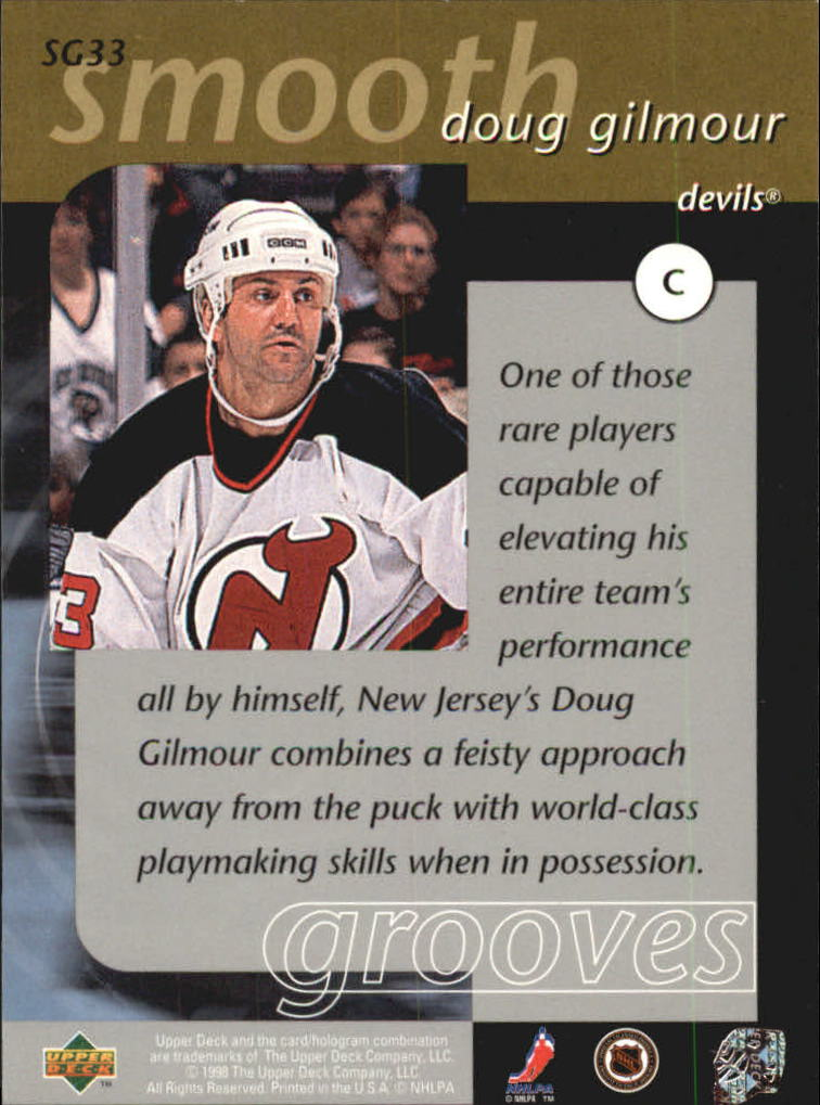 1997-98 Upper Deck Smooth Grooves #SG33 Doug Gilmour back image