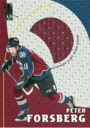 1998-99 Be A Player Playoff Game Used Jerseys #G7 Peter Forsberg