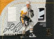 1998-99 Be A Player Playoff Legend Mario Lemieux #L4 Penguins Jsy/Stick AU
