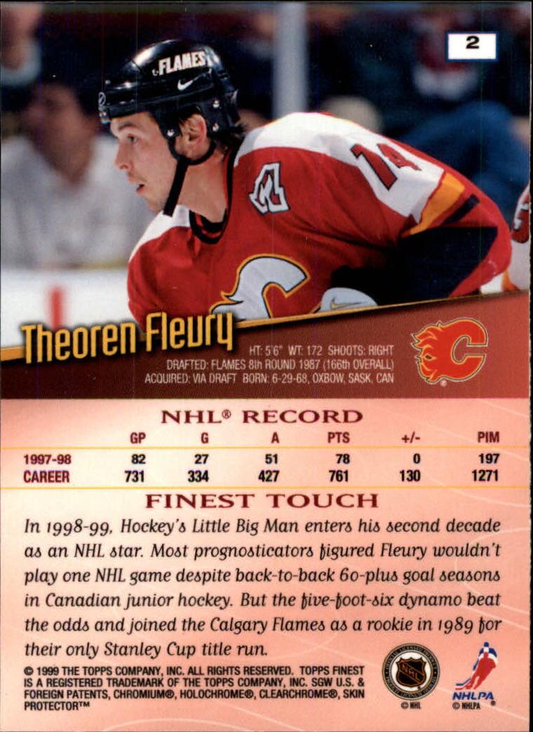 1998-99 Finest #2 Theo Fleury back image