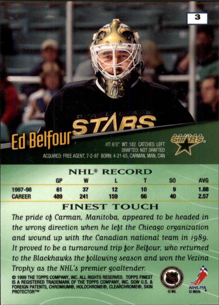 1998-99 Finest #3 Ed Belfour back image