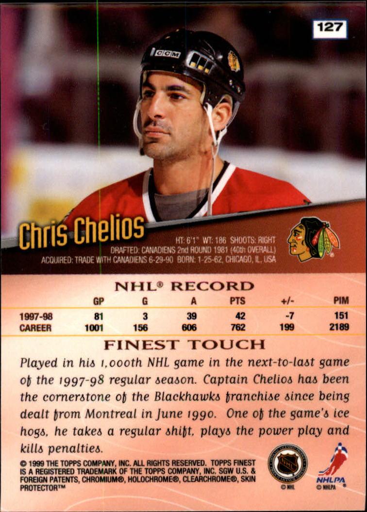 1998-99 Finest #127 Chris Chelios back image