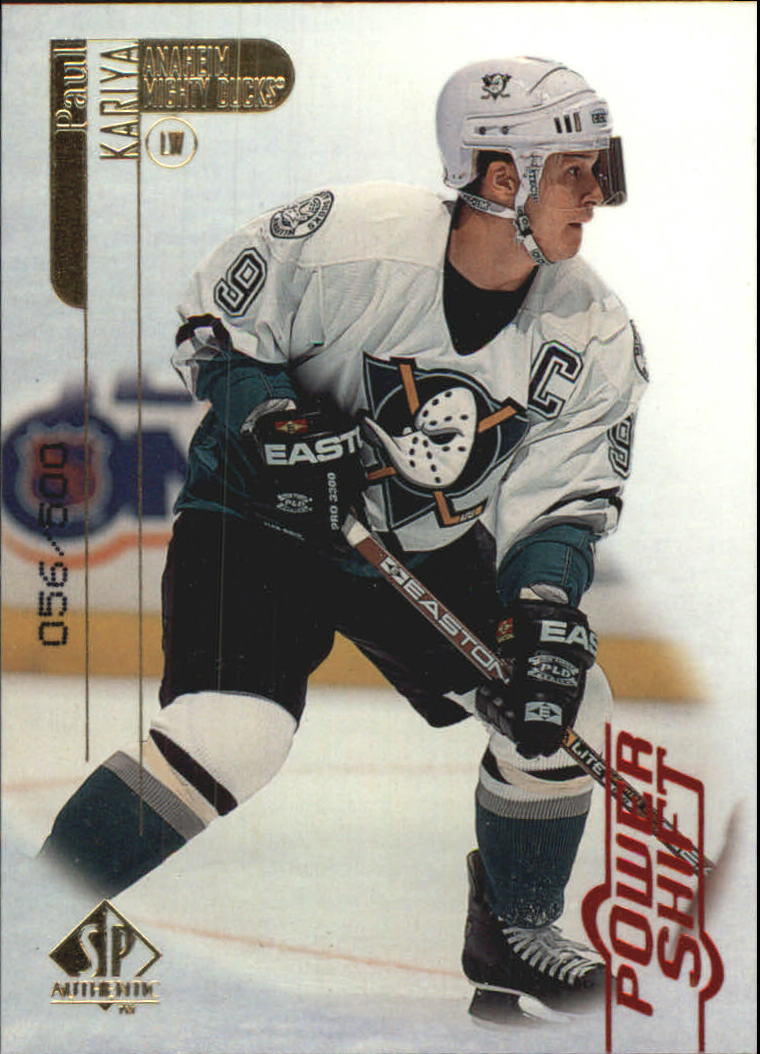 1998-99 SP Authentic Power Shift #1 Paul Kariya