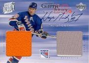 1998-99 Upper Deck Game Jerseys #GJA4 Wayne Gretzky Dual JSY AU/99