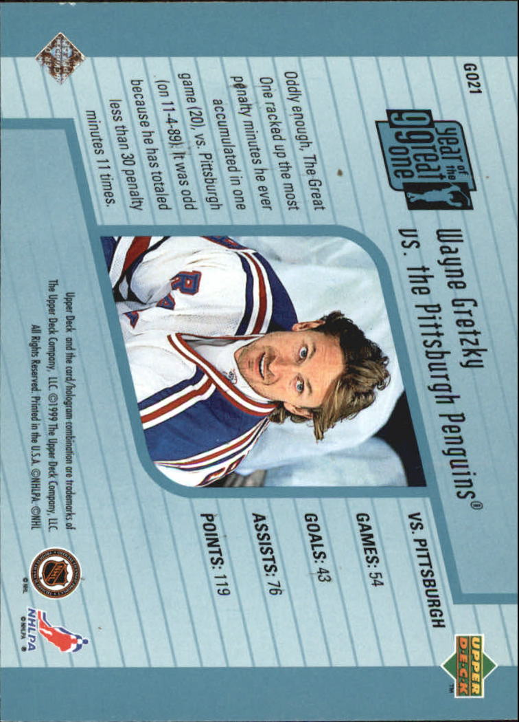 1998-99 Upper Deck Year of the Great One #GO21 Wayne Gretzky back image