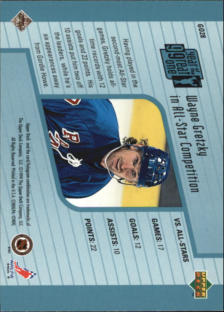 1998-99 Upper Deck Year of the Great One #GO28 Wayne Gretzky back image