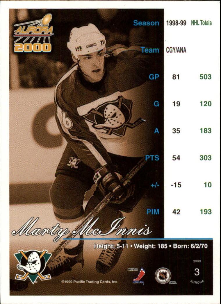 1999-00 Aurora #3 Marty McInnis back image