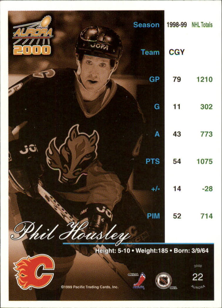 1999-00 Aurora #22 Phil Housley back image