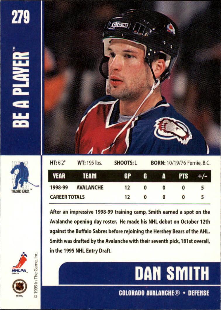 1999-00 BAP Memorabilia #279 Dan Smith RC back image