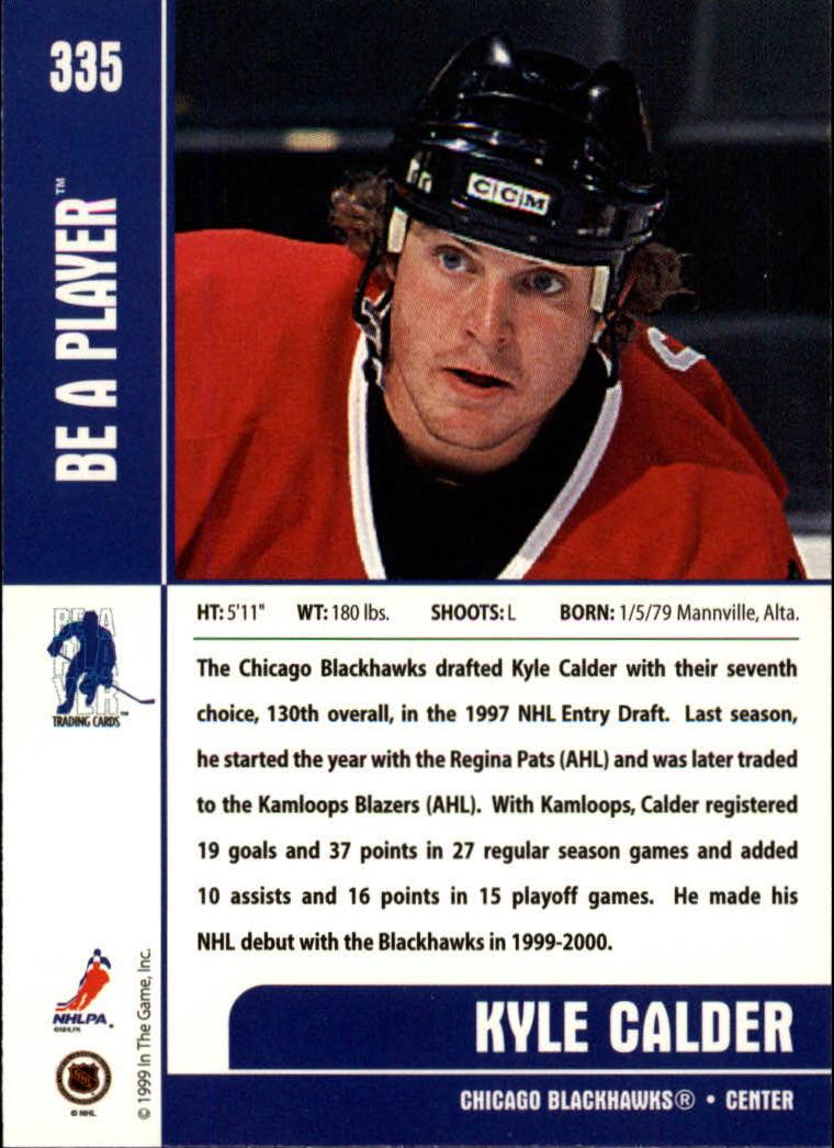 1999-00 BAP Memorabilia #335 Kyle Calder RC back image