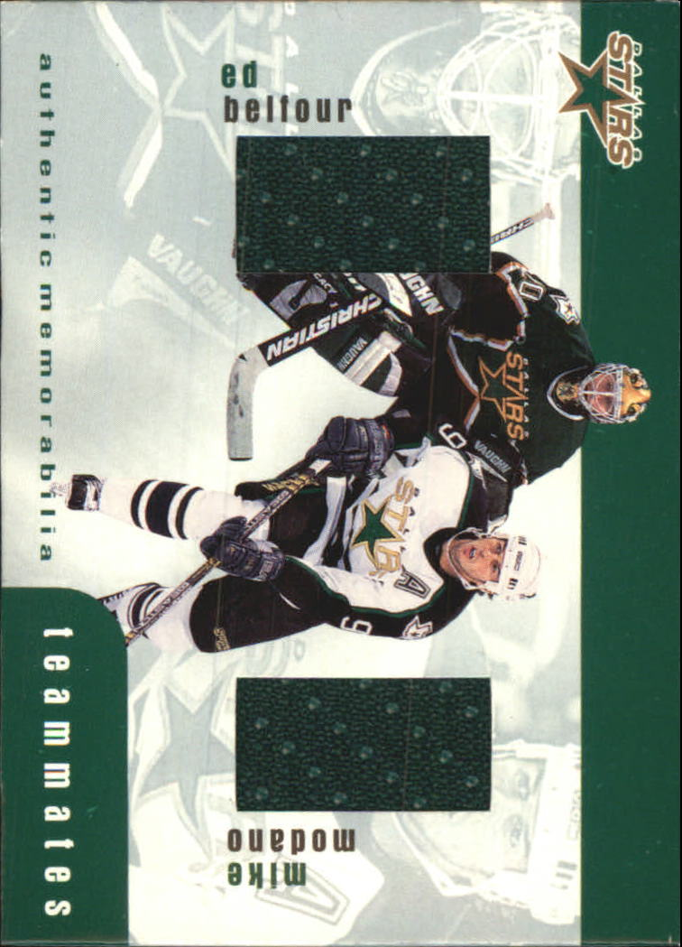 1999-00 BAP Update Teammates Jerseys #TM48 Ed Belfour/Mike Modano