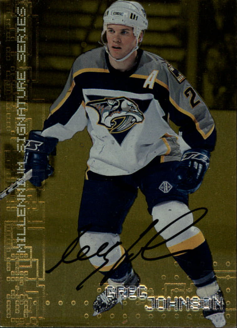 1999-00 BAP Millennium Autographs Gold #141 Greg Johnson
