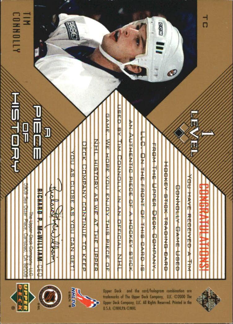 1999-00 Black Diamond A Piece of History #TC Tim Connolly back image