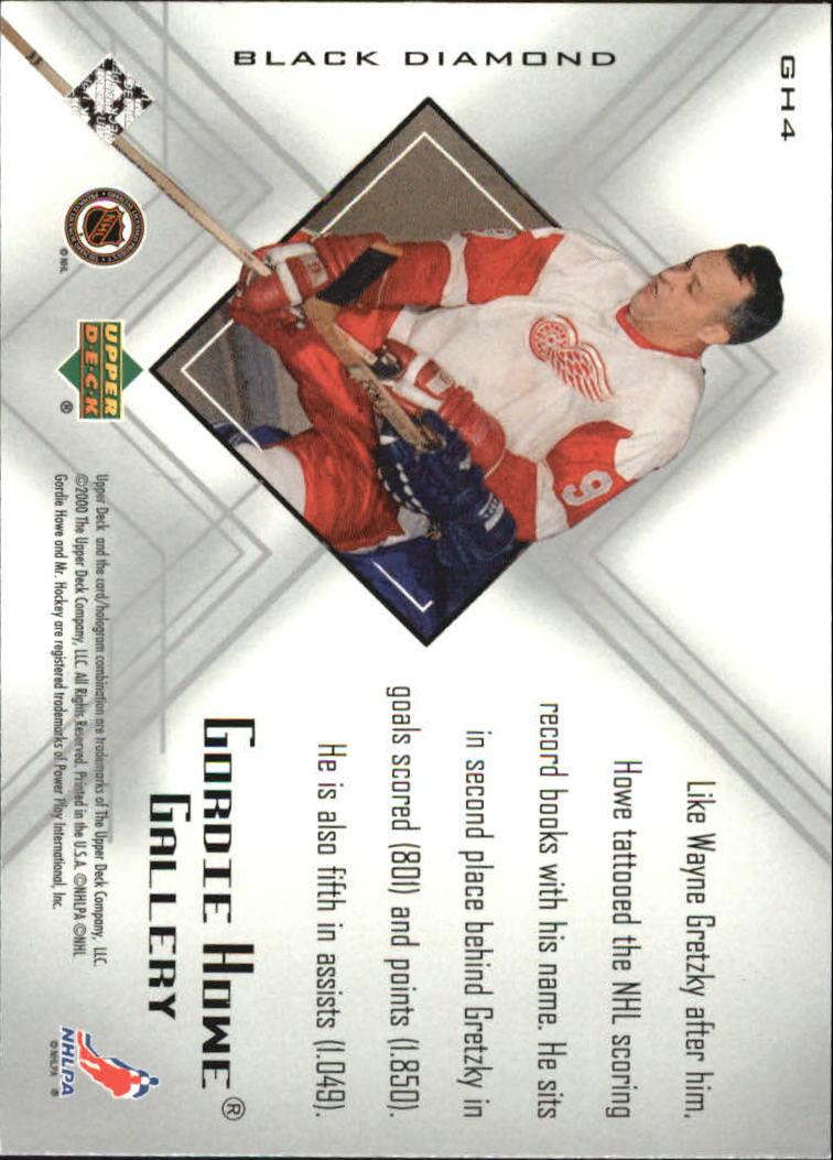 1999-00 Black Diamond Gordie Howe Gallery #GH4 Gordie Howe back image
