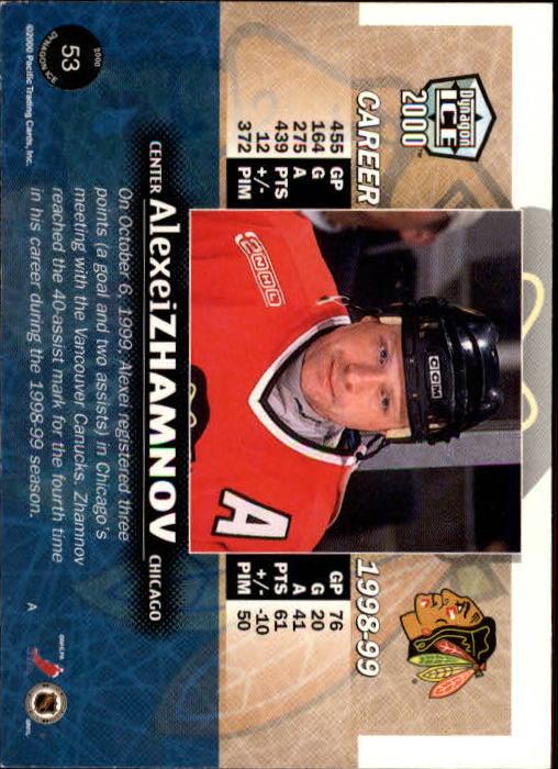 1999-00 Pacific Dynagon Ice #53 Alexei Zhamnov back image