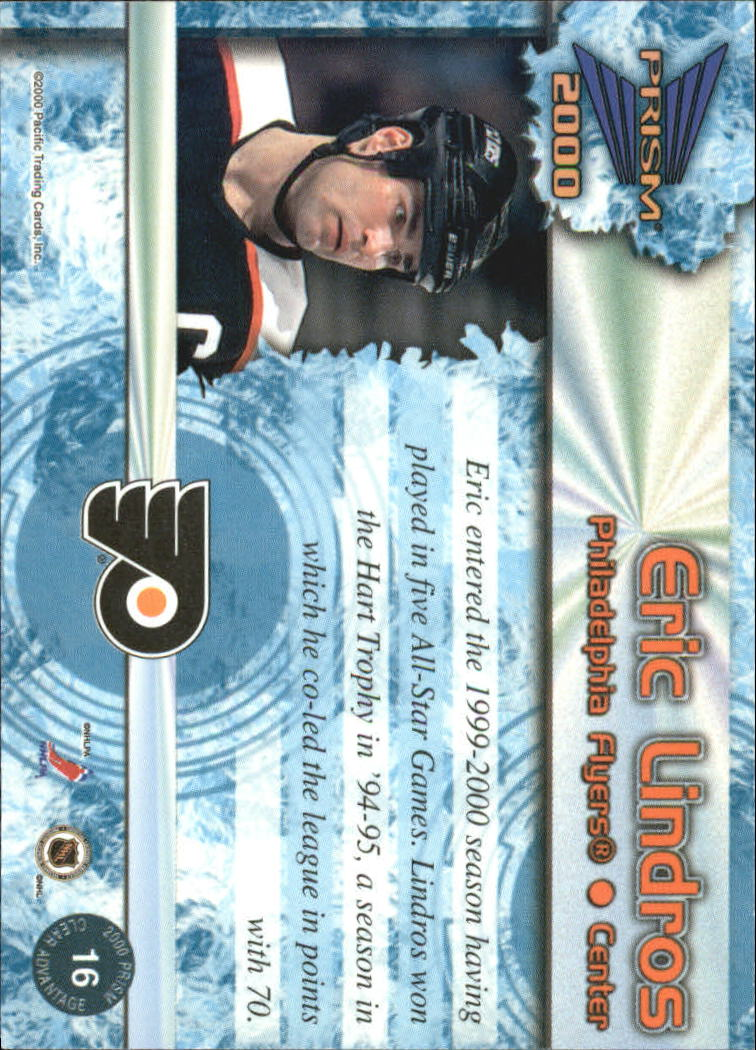 1999-00 Pacific Prism Clear Advantage #16 Eric Lindros back image