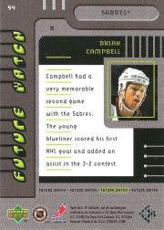 1999-00 SP Authentic #94 Brian Campbell RC back image