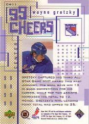 1999-00 SPx 99 Cheers #CH11 Wayne Gretzky back image