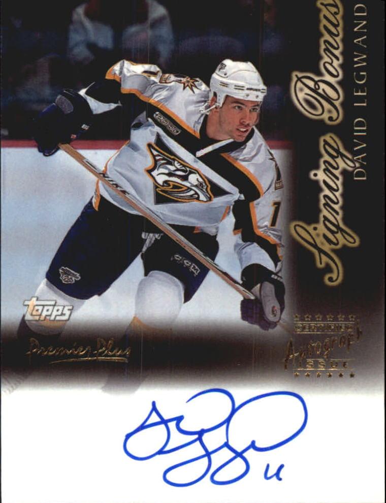 1999-00 Topps Premier Plus Signing Bonus #SB1 David Legwand