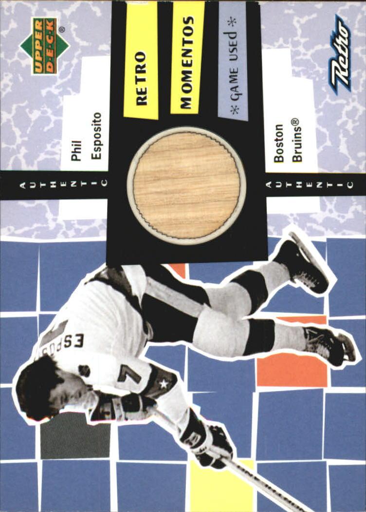 1999-00 Upper Deck Retro Memento #RM4 Phil Esposito