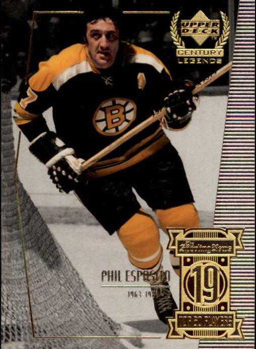 1999-00 Upper Deck Century Legends #19 Phil Esposito