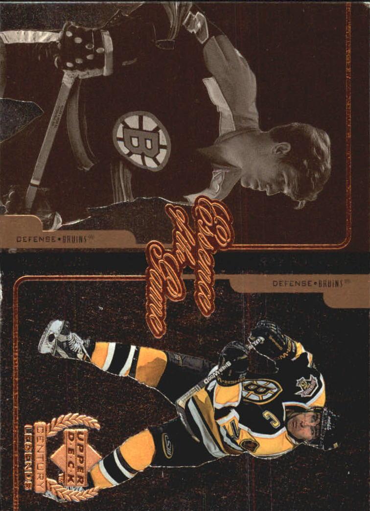 1999-00 Upper Deck Century Legends Essence of the Game #E2 Bobby Orr/Ray Bourque