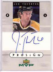 1999-00 Upper Deck MVP ProSign #JT Joe Thornton