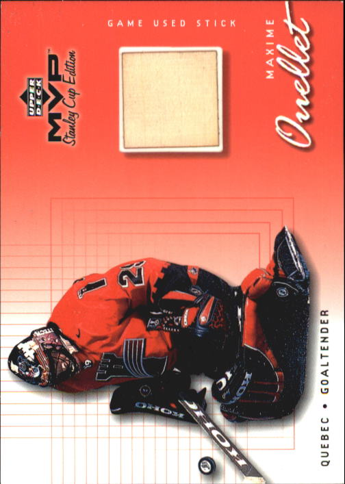 1999-00 Upper Deck MVP SC Edition Game-Used Souvenirs #GUMO Maxime Ouellet