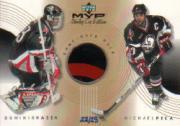1999-00 Upper Deck MVP SC Edition Great Combinations Gold #GCHP Dominik Hasek/Michael Peca