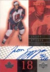 2000-01 Upper Deck Jason Spezza Giveaways #2 Jason Spezza AU/600