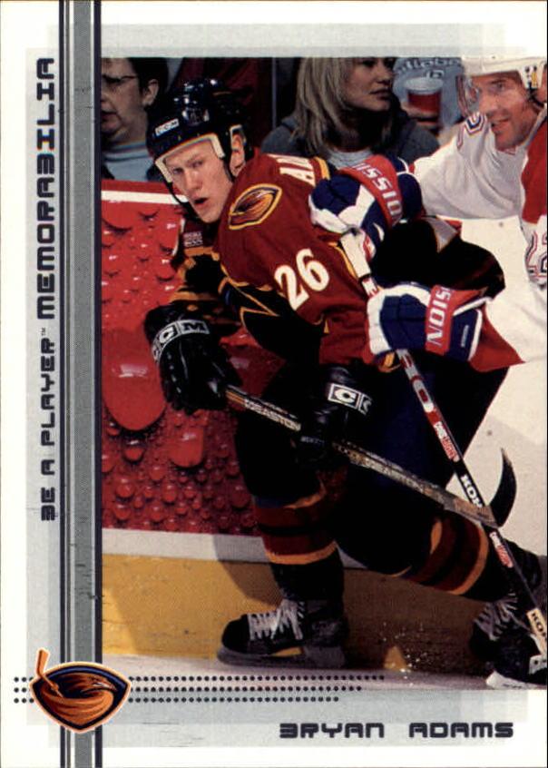 2000-01 BAP Memorabilia #81 Bryan Adams RC