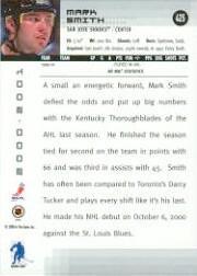 2000-01 BAP Memorabilia #425 Mark Smith RC back image