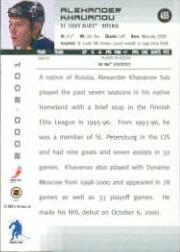 2000-01 BAP Memorabilia #455 Alexander Khavanov RC back image