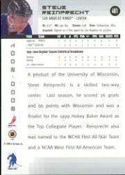 2000-01 BAP Memorabilia #461 Steven Reinprecht RC back image