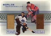 2000-01 BAP Memorabilia Goalie Memorabilia #G23 Terry Sawchuk Stick/Jacques Plante Glove