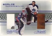 2000-01 BAP Memorabilia Goalie Memorabilia #G28 Patrick Roy Glove/Terry Sawchuk Glove