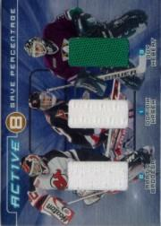 2000-01 BAP Ultimate Memorabilia Active Eight #AE8 Dominik Hasek/Martin Brodeur/Guy Hebert