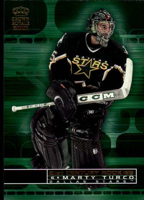 2000-01 Crown Royale 21st Century Rookies #9 Marty Turco