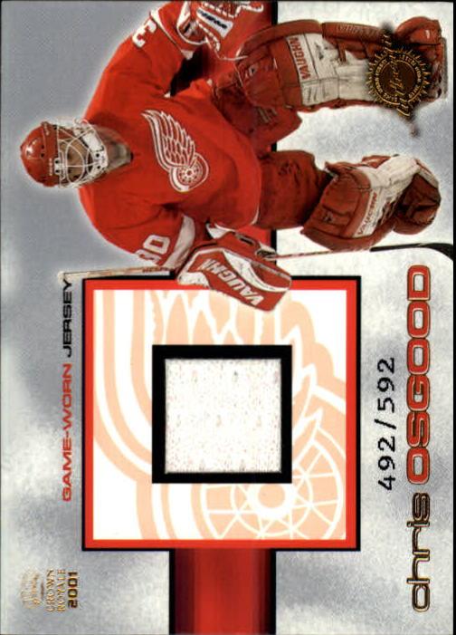 2000-01 Crown Royale Game-Worn Jerseys #14 Chris Osgood/592