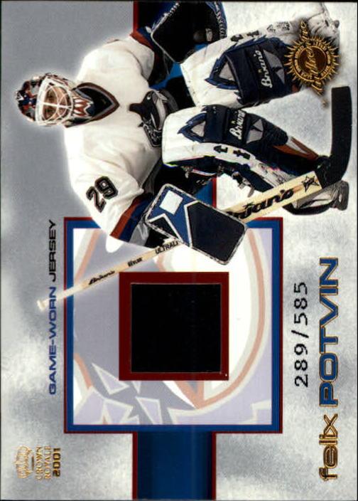 2000-01 Crown Royale Game-Worn Jerseys #25 Felix Potvin/585