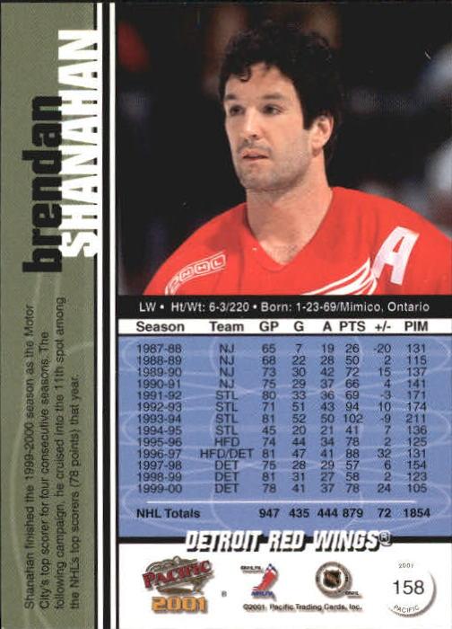 2000-01 Pacific #158 Brendan Shanahan back image
